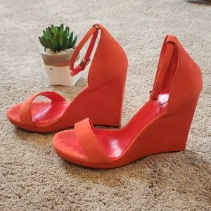 Aldo wedge sandal Blood Orange 8.5